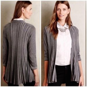 Anthro Knitted + Knotted Pollyella Pleated Sweater